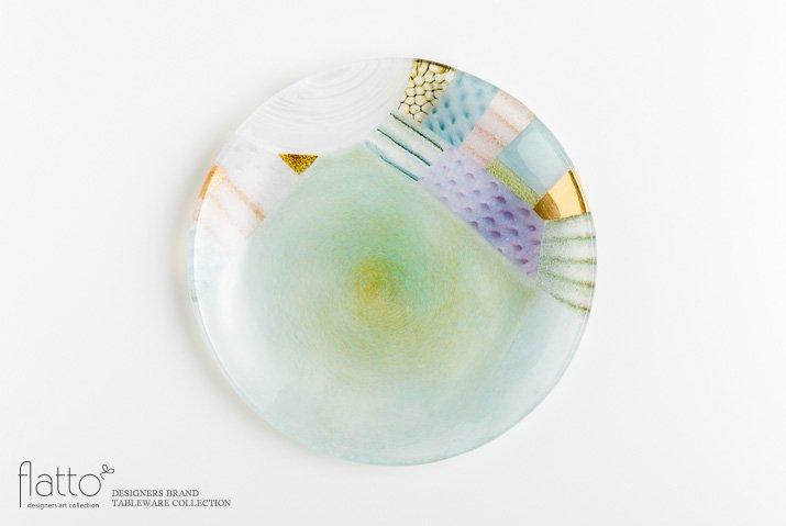 吉村桂子|ツギハギ丸皿(23cm)