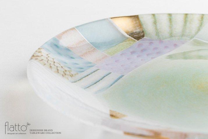 吉村桂子|ツギハギ丸皿(23cm)-02