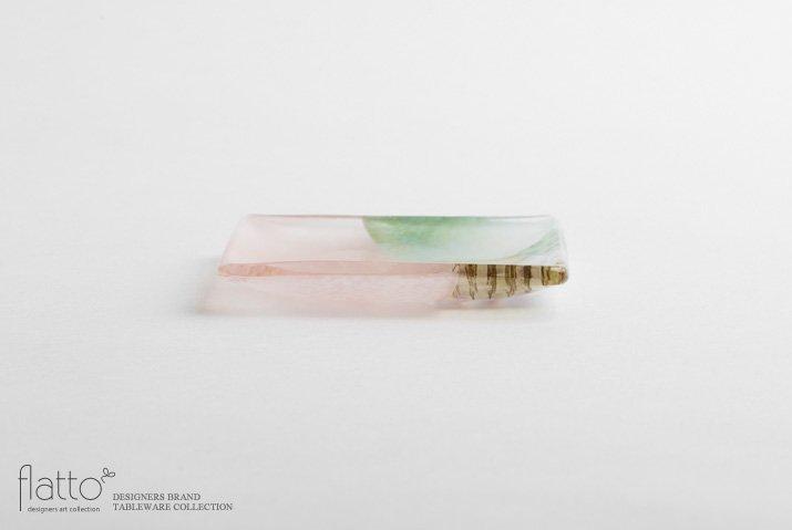 吉村桂子|ツギハギ角皿(10cm角)-03