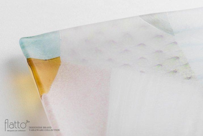 吉村桂子|ツギハギ角皿(15cm角)-02