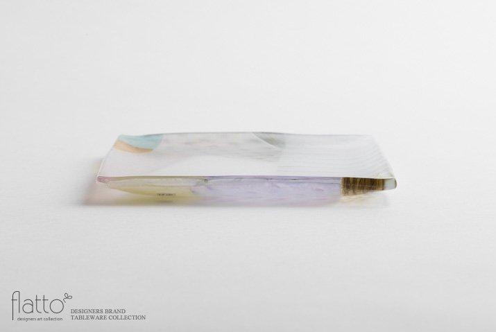 吉村桂子|ツギハギ角皿(15cm角)-03