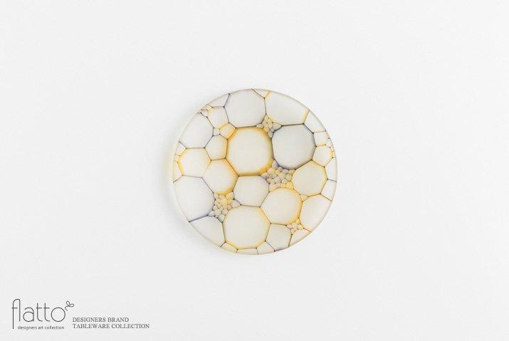 吉村桂子 イロアミプレート(陽だまり丸皿 12cm)