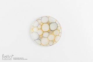 吉村桂子|イロアミプレート(陽だまり丸皿 12cm)