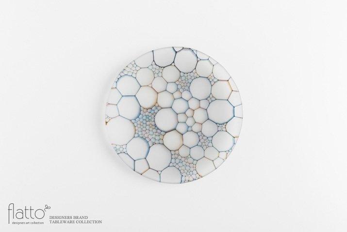 吉村桂子 イロアミプレート(陽だまり丸皿 18cm)