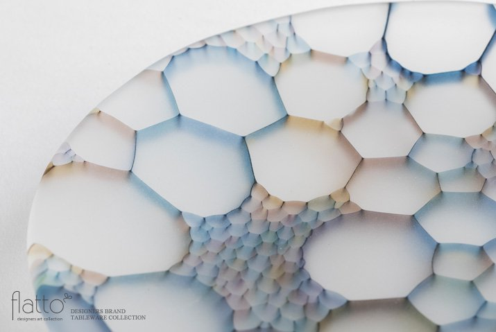 吉村桂子 イロアミプレート(陽だまり丸皿 18cm)-02