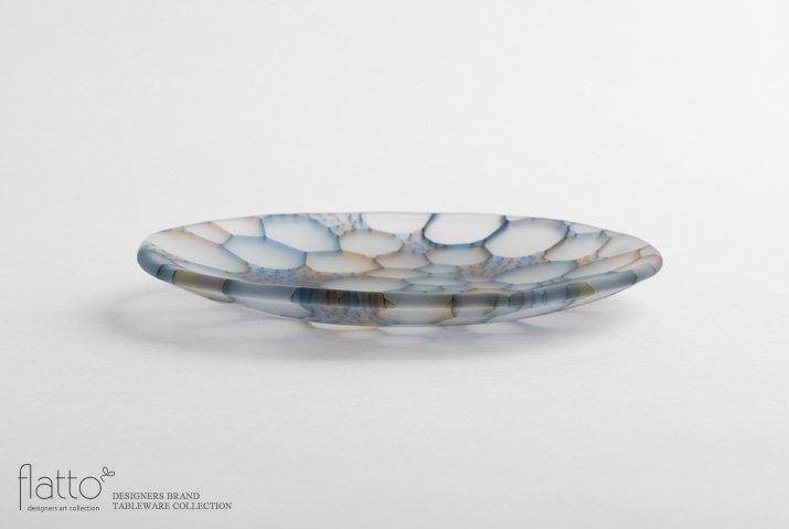 吉村桂子 イロアミプレート(陽だまり丸皿 18cm)-03