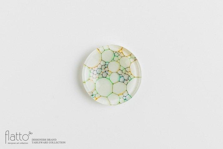 吉村桂子 イロアミプレート(虹の豆皿 7cm)