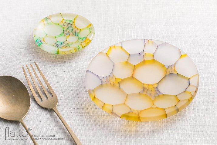 吉村桂子 イロアミプレート(虹の豆皿 7cm)-04