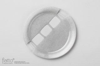 サブロウ|リム皿(大c・しろねず)
