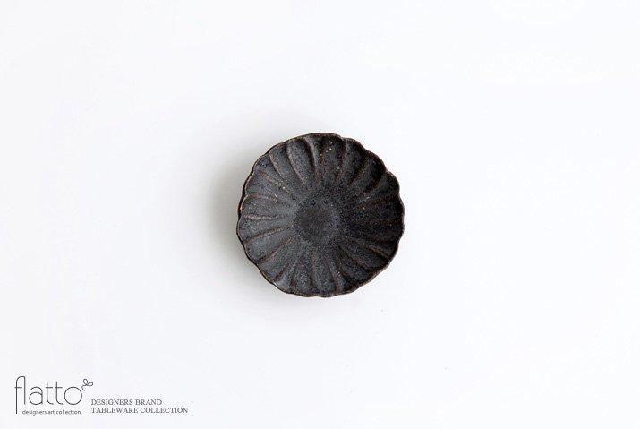 村上直子|黒錆 マーガレット小皿