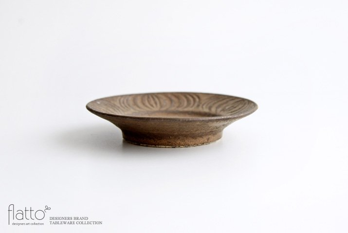 器のしごと 鉄sabi アンティークな小皿-03