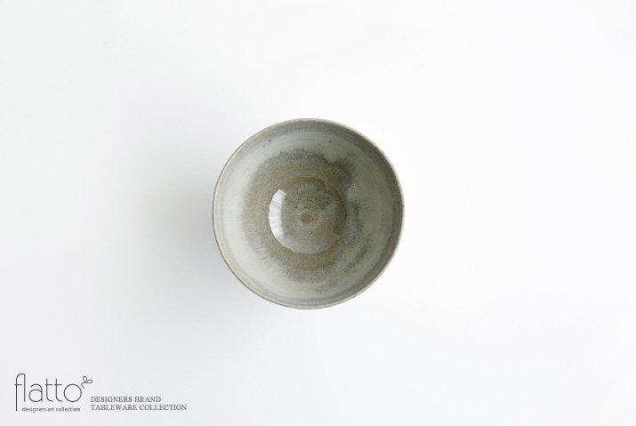 武曽健一 絞手 湯呑み(錆呉須)-03