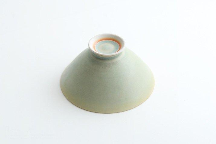 杉原万理江|高台飯碗(黄緑系)-05