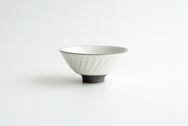 武曽健一|印花飯碗(白)