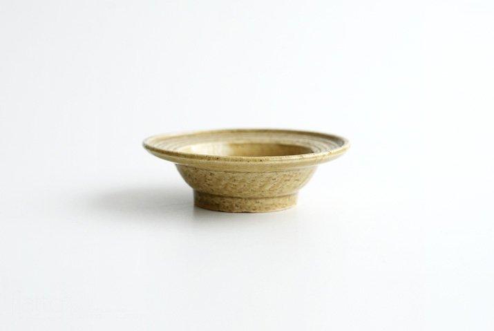 野村佳苗 黄桑釉 櫛目向付(小)-03