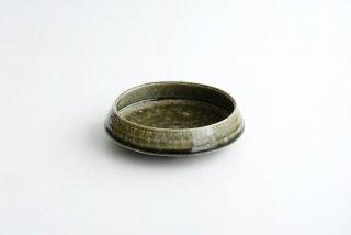 野村佳苗 錆緑釉 台形鉢