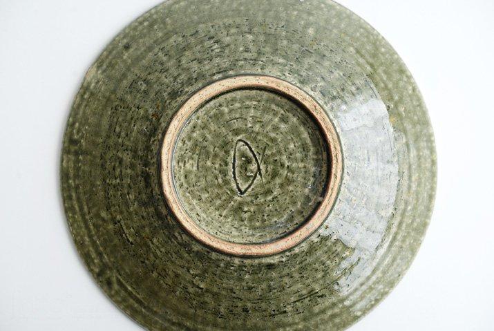 野村佳苗|錆緑釉 7寸皿-06