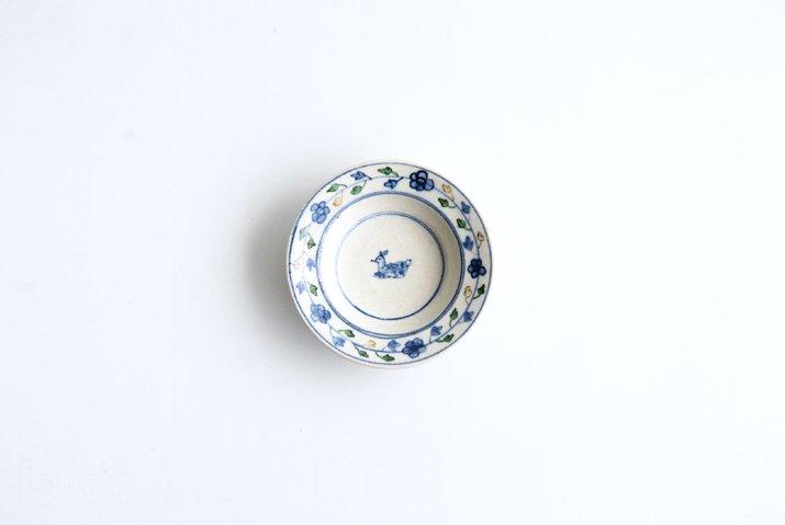 野村佳苗|色絵 豆皿(緑)