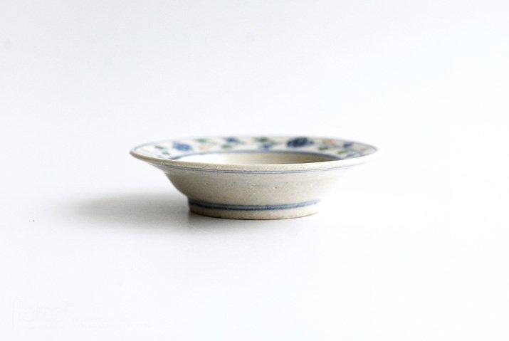 野村佳苗|色絵 豆皿(緑)-03