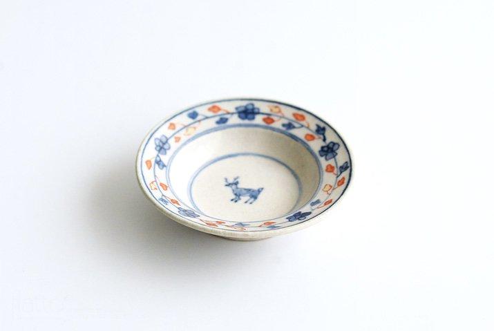 野村佳苗 色絵 豆皿(赤)-05