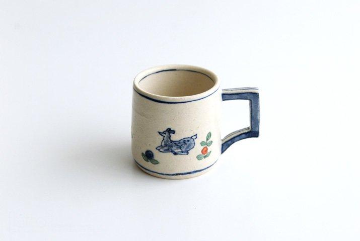野村佳苗|色絵マグカップ