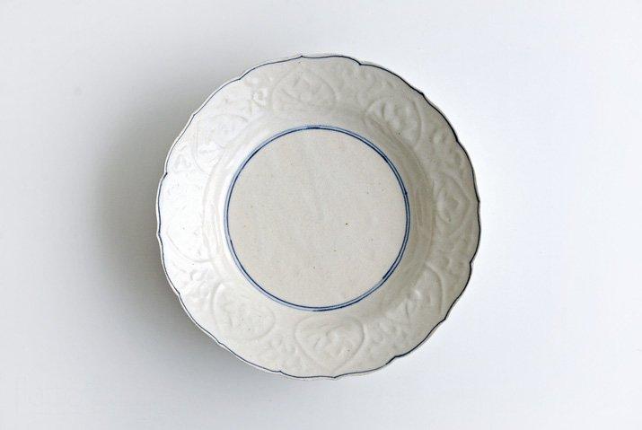 野村佳苗|染付 陽刻7寸皿-03