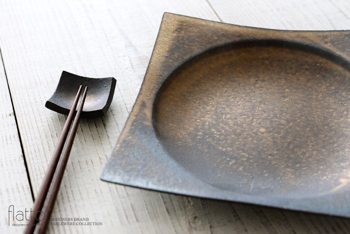水野幸一|銅彩釉 角皿(大)-02