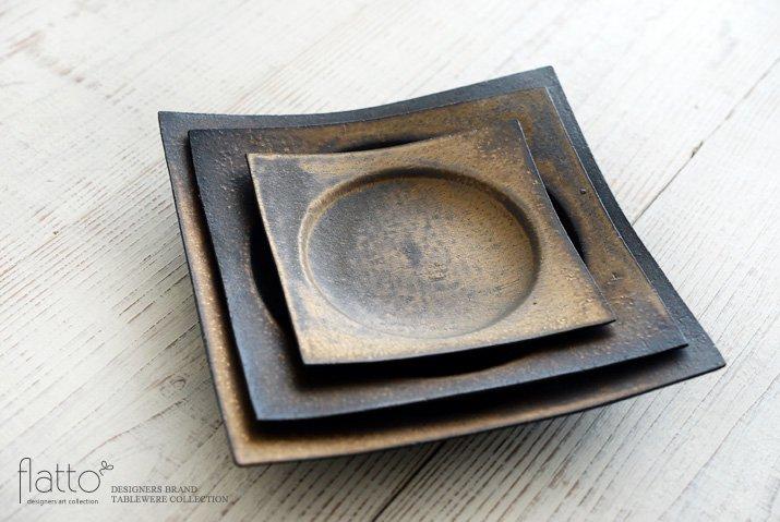 水野幸一|銅彩釉 角皿(大)-04