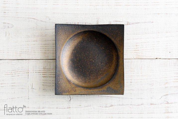 水野幸一|銅彩釉 角皿(中)