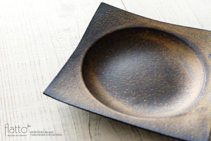 水野幸一|銅彩釉 角皿(中)-02