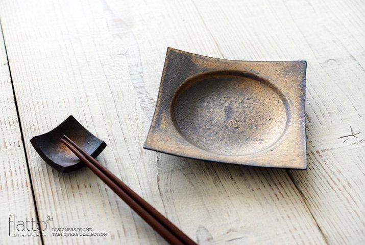 水野幸一|銅彩釉 角皿(小)-02