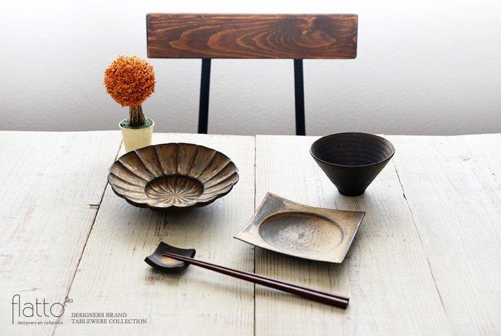 水野幸一|銅彩釉 角皿(小)-03