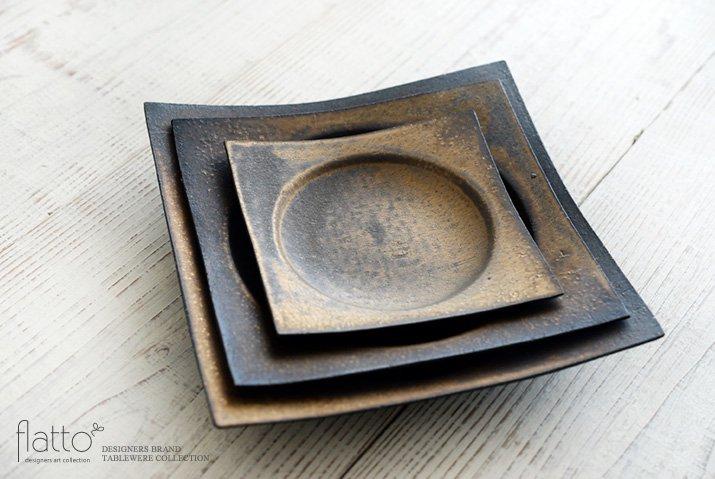 水野幸一|銅彩釉 角皿(小)-04