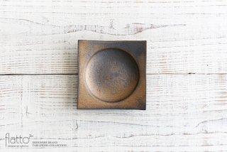 水野幸一|銅彩釉 角皿(小)|小皿・豆皿
