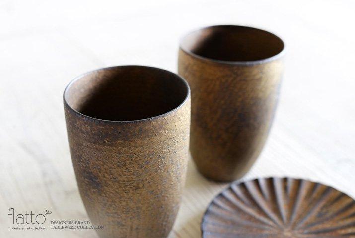 水野幸一|銅彩釉 ビアカップ-02