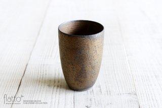 銅彩釉 ビアカップ 作家「水野幸一」
