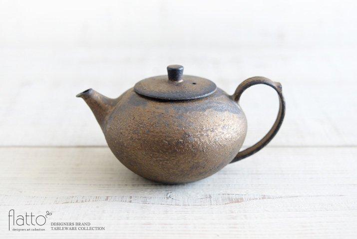 銅彩釉 茶ポット 作家「水野幸一」