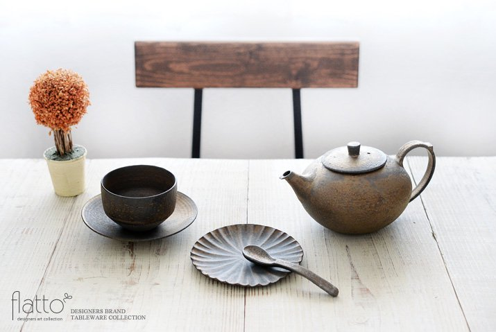 銅彩釉 茶ポット 作家「水野幸一」-03