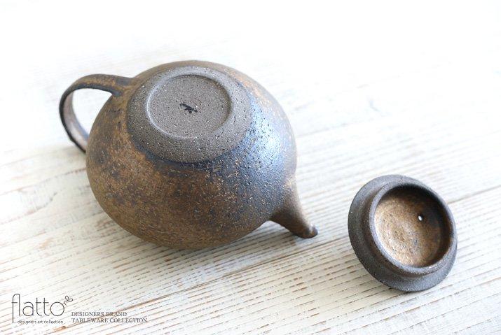 銅彩釉 茶ポット 作家「水野幸一」-04