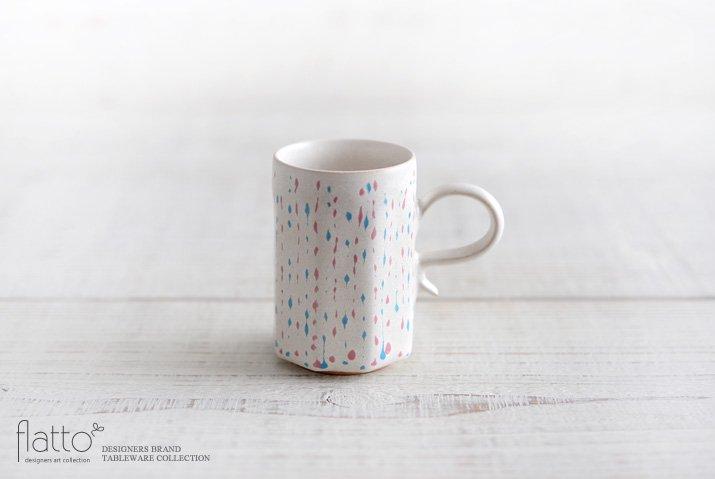 安田宏定|白釉四季彩デミタスカップ(雫・桃青)