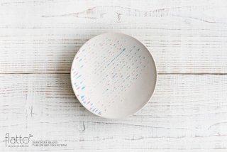安田宏定|白釉四季彩プレート5寸(雫・桃青)|和食器