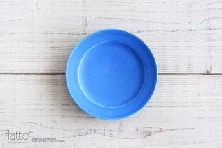 東一仁|ブルー リムプレート6寸
