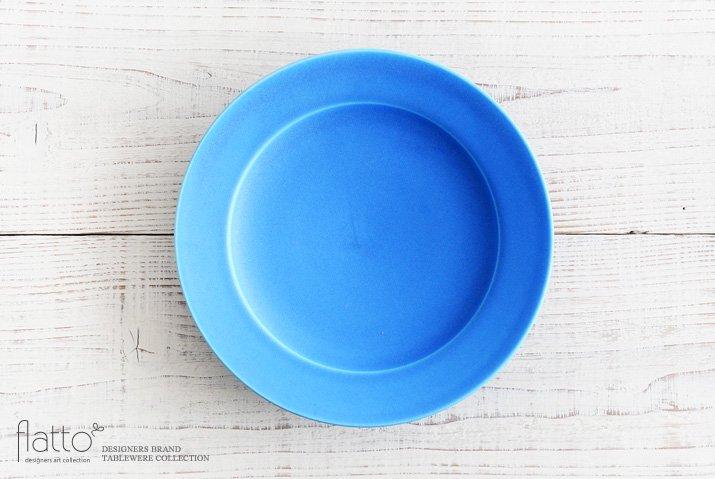 東一仁|ブルー リムプレート8寸