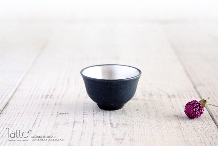 黒釉銀彩 煎茶碗 作家「木下和美」