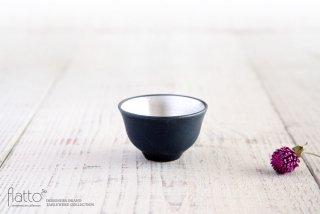 木下和美|黒釉銀彩 煎茶碗