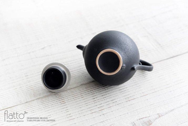 木下和美|黒釉銀彩 注器(丸)-04