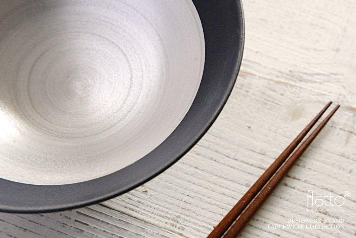 木下和美|黒釉銀彩鉢-02