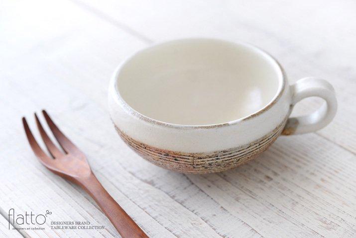 古谷浩一|渕荒横彫 手付きスープカップ(丸)-02