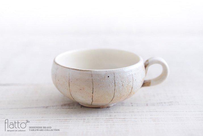 古谷浩一|たて鉄線 手付きスープカップ(丸)