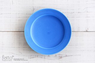 東一仁|ブルー リムプレート7寸